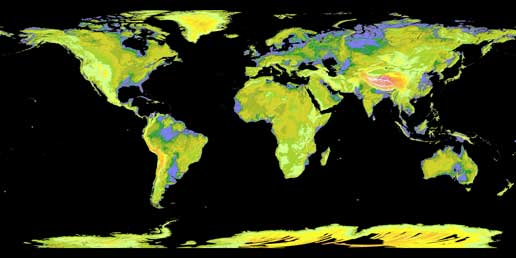 global digital elevation map