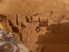 NASA's Phoenix Mars Lander shows several trenches dug by Phoenix.