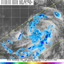 TRMM image of tropical cyclone Blanca
