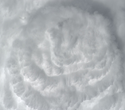 Deep Convective Clouds, seen from above, over the Atlantic Ocean.