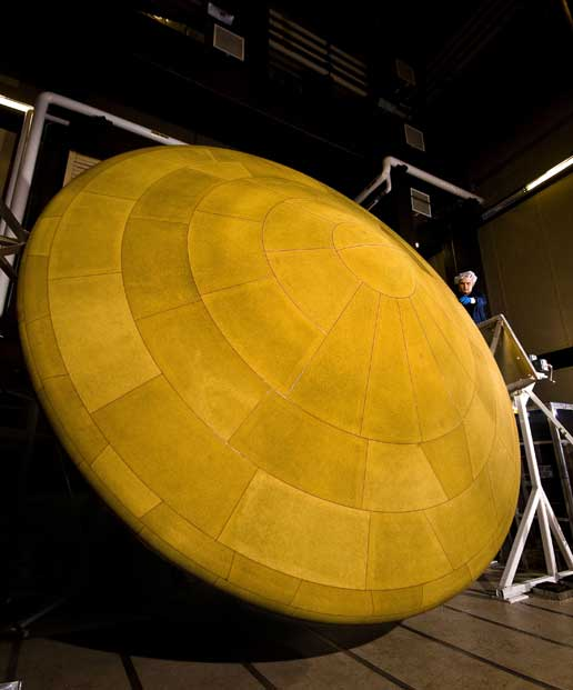 finished heat shield for NASA's Mars Science Laboratory