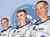 Cartoon image of the Apollo 9 crew