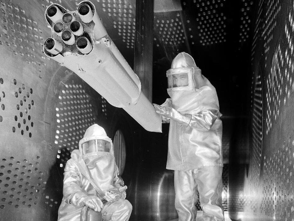 Saturn I booster model