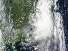 Huaning making landfall in southeast China on July 13.