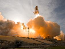 Liftoff of space shuttle Endeavour on its STS-127 mission