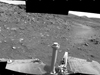This scene combines five frames taken by the navigation camera on NASA's Mars Exploration Rover Spirit