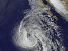 This image is of Tropical Storm Dolores from the NOAA GOES-11 satellite