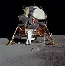 Buzz Aldrin and the Lunar Module