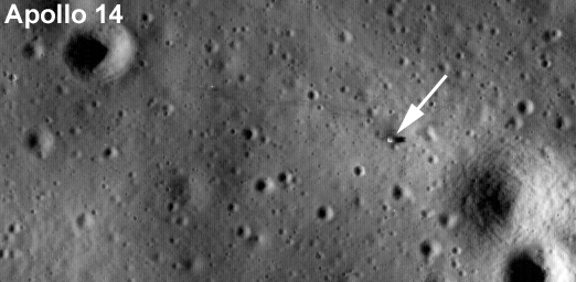 Apollo 14 landing site taken by LRO