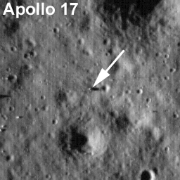 Labeled LROC image of Apollo 17 landing site