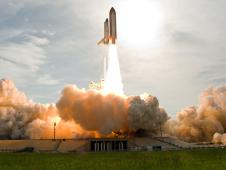 Launch of space shuttle Endeavour on the STS-127 mission