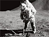 Astronaut James P. Irwin on the moon