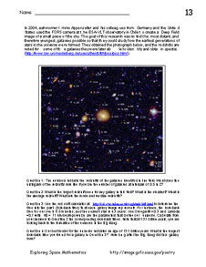 First page of Problem 13, A Glimpse of the Most Distant Galaxy