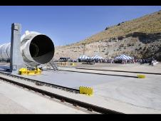 Ares I First Stage Motor is unveiled in Promontory, Utah.