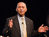NASA Administrator Charles Bolden speaks with NASA Langley employees