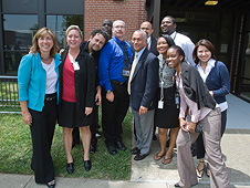 NASA Administrator Charles Bolden and Deputy Administrator Lori Garver with a group of pre-service teachers