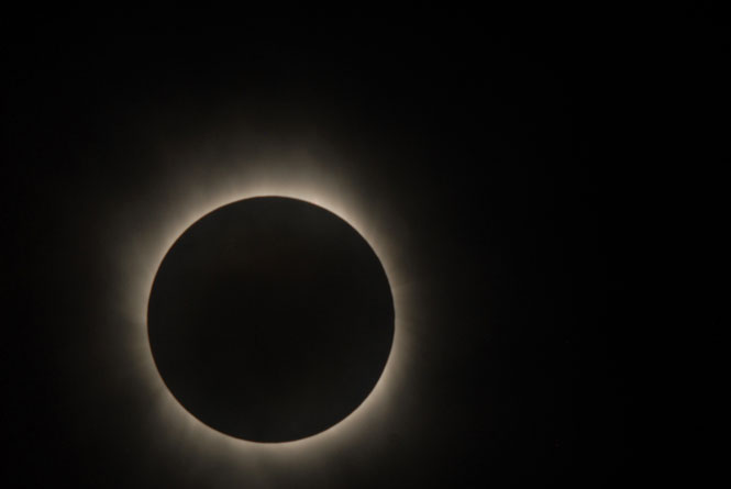 Images of Solar Eclipse as seen by Hinode