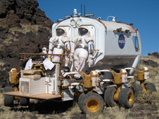 Lunar Electric Rover with suitport is tested at Black Point Lava Flow, Arizona.