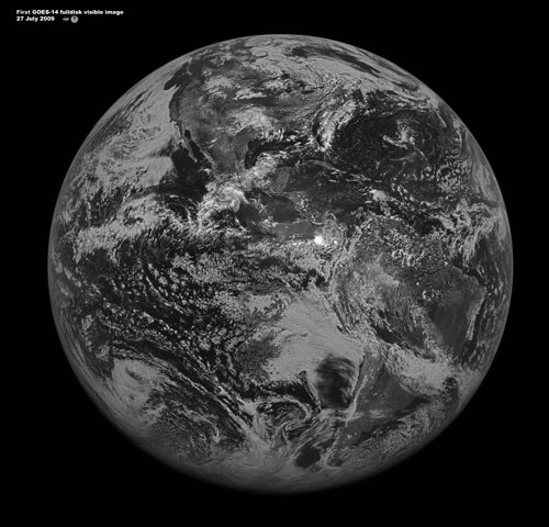 First image from GOES-14