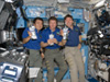 3 astronauts in space station