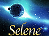 Artwork showing a developing moon and the word Selene