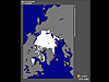 A map showing arctic sea ice extent