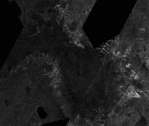 This mosaic of image swaths from Cassini's Titan Radar Mapper