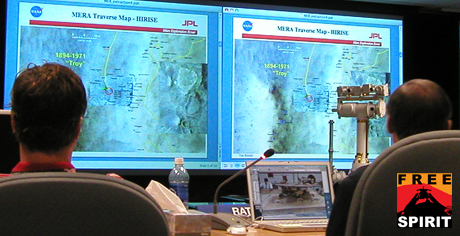 Panelists reviewed results to date from testing possible maneuvers to use in driving NASA's Mars Rover Spirit