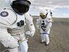 Spacesuit demos at Moses Lake