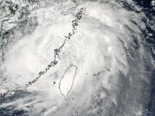 Morakot making landfall in eastern China on August 9 at 1:15 a.m. EDT.