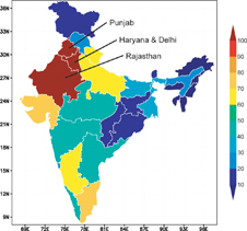 water table data of India