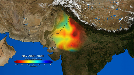 visualization of India showing groundwater data