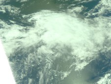 Tropical Storm Etau being undergoing a transition into an extra-tropical storm.