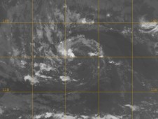 NASA's Terra satellite reveals very sparse cloud cover associated with the depression.