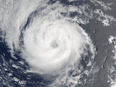 Guillermo when it was still a well-organized tropical storm.