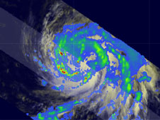 TRMM image of Hurricane Bill from August 17, 2009