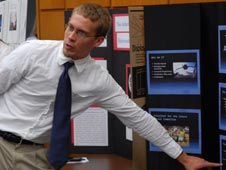 Kennedy Space Center intern Tim Haynie
