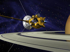 Artist concept of Cassini spacecraft.
