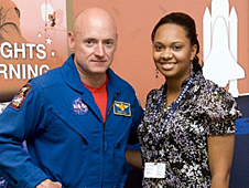 Astronaut Scott Kelly and Sherri Mitchell