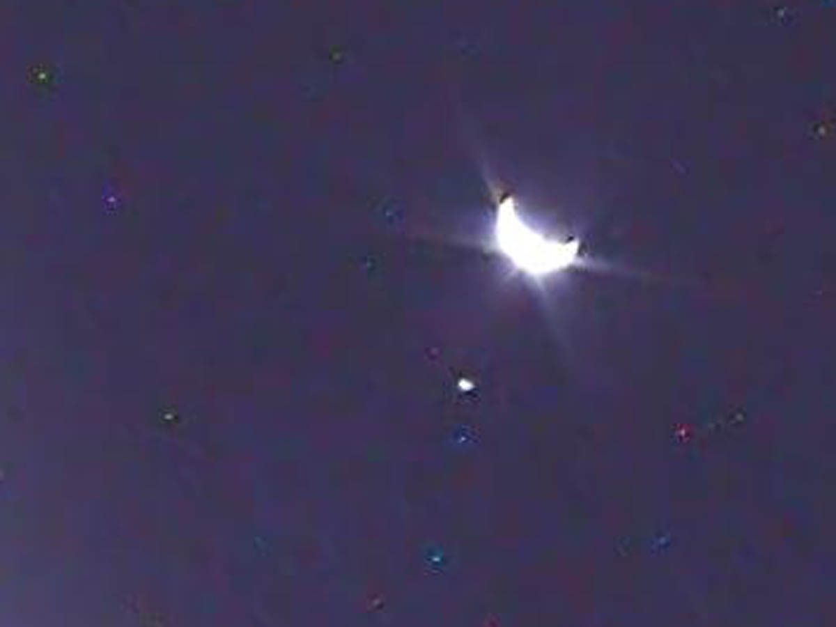 Earth and Moon from LCROSS orbit.  August 17, 2009. Click to embiggen.