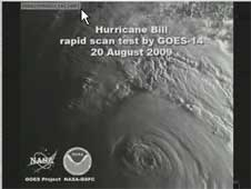 First frame of the Hurricane Bill GOES 14 video