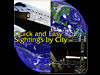 Images of Earth, space shuttle and space station, with the words Quick and Easy Sightings by City