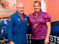 Astronaut Scott Kelly and Christie Funk
