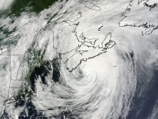 Hurricane Bill when he was over Nova Scotia, Canada on August 23 at 11:20 a.m. EDT.