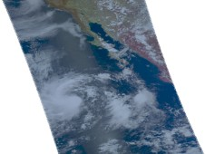 Tropical Storm Ignacio on August 24 some 650 miles from the western Mexico coast.