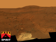 Mars as photographed by the Spirit rover