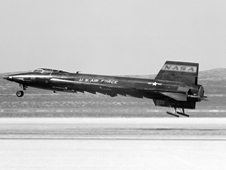 The X-15 aircraft.