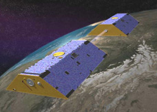 Launched in 2002, the twin Grace satellites map Earth's gravity field from orbit 500 kilometers (310 miles) above the surface. They respond to how mass is distributed in the Earth and on Earth's surface -the greater the mass in a given area, the stronger the pull of gravity from that area.