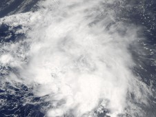 Tropical Storm Danny off the Bahamas on August 26 at 2:30 p.m. EDT.