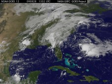 Tropical Storm Danny as the large area of clouds of the southeast U.S. coast.